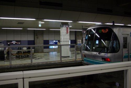 日吉駅に停車中の東京メトロ9000系。 撮影日:2008年9月14日 カメラ:PENTAX K10D レンズ:smcPENTAX-DA18-55mmF3.5-5.6AL 焦点距離:18mm 露出モード:オート(シャッター速度:1/30秒 絞り:F3.5 感度:ISO-200) トリミング