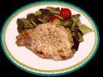野菜のポアレとポークステーキ