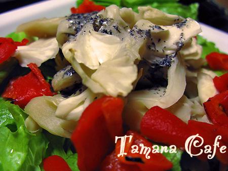 マイタケとパプリカのサラダ