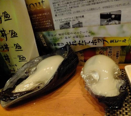 牡蠣のオブジェ