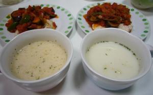 カップスープ&トマト料理