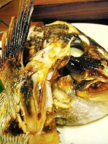 真鯛の兜焼き