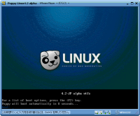 PuppyLinux4.2alpha 起動画面
