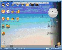 PuppyLinux4.2alpha デスクトップ画面