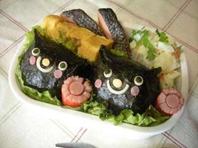 黒猫おにぎり