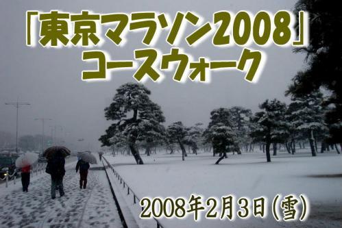 東京マラソン2008 コースウォーク