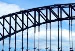 橋の上観光歩行