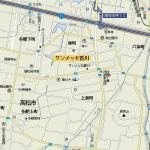 和希の地図(赤い点が所在地)