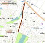 09/01/24 大堤までの地図