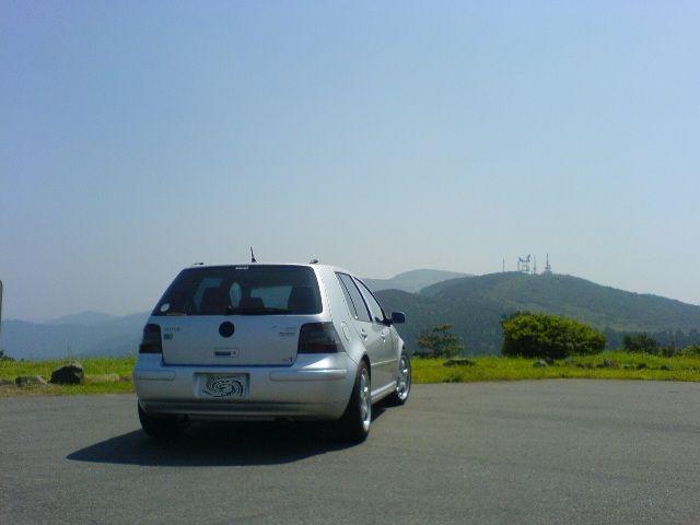 滝知山展望台にて