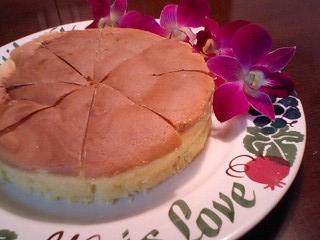 チーズケーキとデンファレ