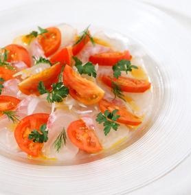 12-02-23 春はトマト四万十川の野生派トマト狼桃をシンプルにオリーブオイルと塩で