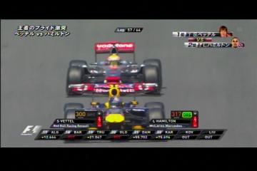 2011 スペインGP ベッテルVSハミルトン