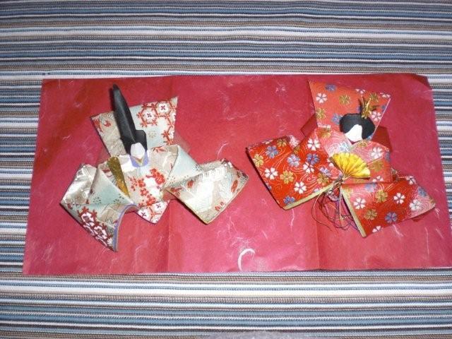 すべての折り紙 折り紙 雛人形 : ... ちゃんの花束 ひな人形 折り紙