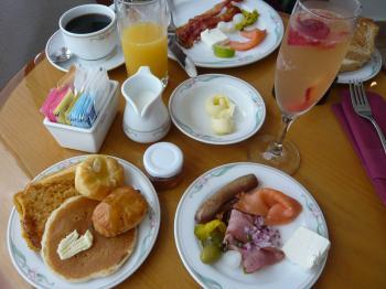 カンクン ホテルの朝食