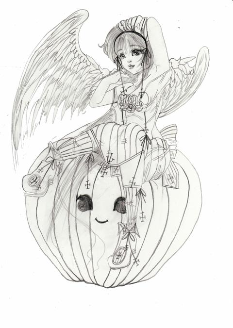 天使with パンプキン