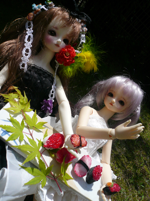 ラテちゃん&ナッチェちゃん「美味しいね~♪」