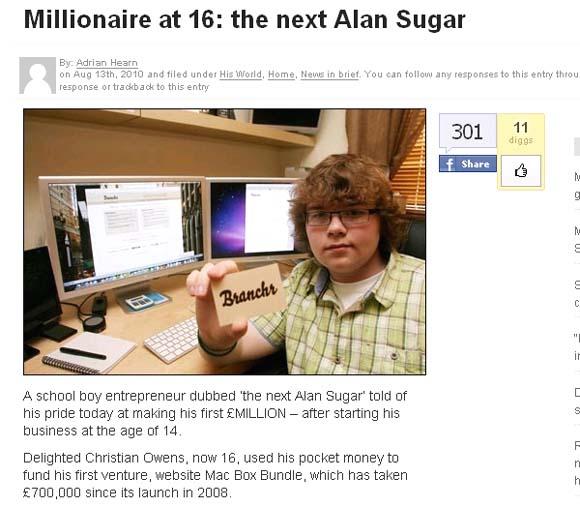 16歳起業家
