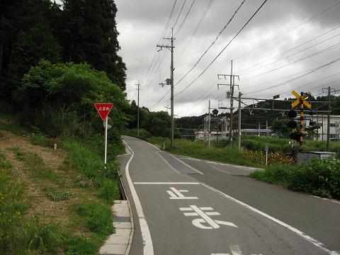 旧中山道・野瀬踏切付近
