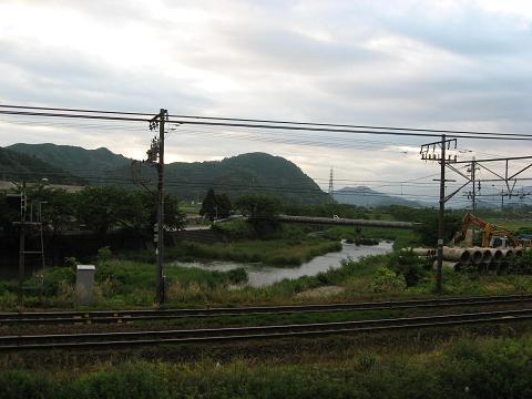 一色より天野川を望む
