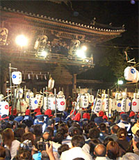 魚吹八幡神社「提灯祭り」