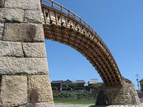 下から撮った錦帯橋