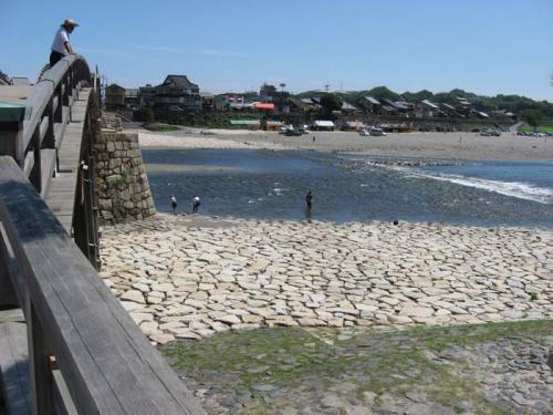 錦帯橋の上からの写真