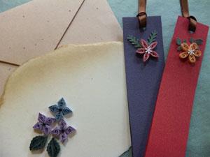 110526 紫陽花のカードと栞