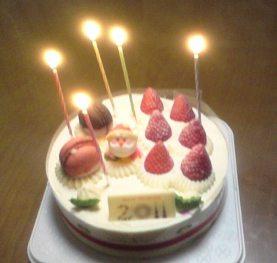 111224 クリスマスケーキ