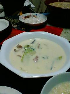 山菜クリームシチュー