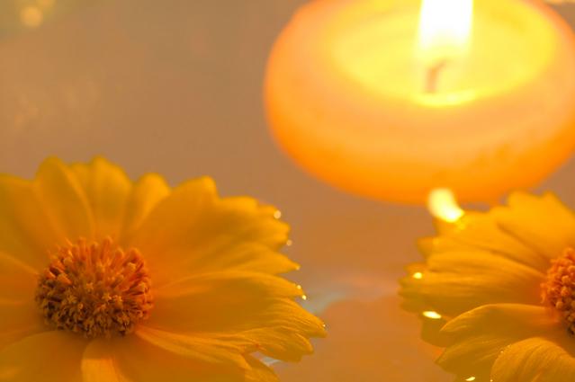 キャンドル花