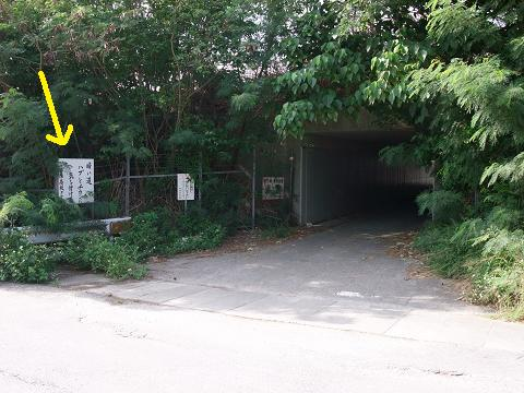 暗い道 ハブとチカンに気を付けろ 西原高校PTA 設置場所 トンネル
