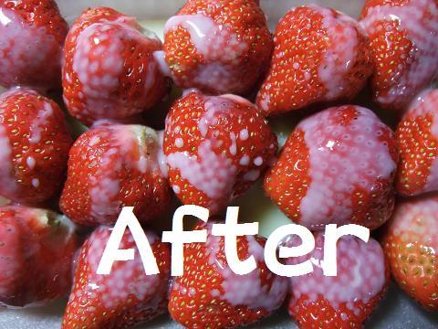 ワシミルク イチゴ after