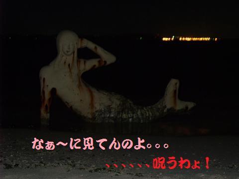 中城モール 人魚 夜