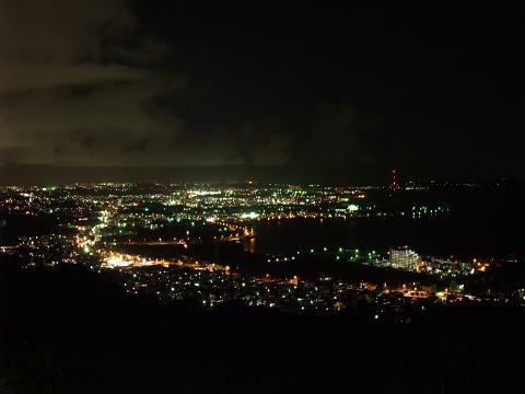 沖縄市の夜景 大西テラスゴルフクラブから