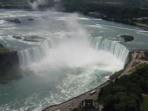カナダ滝10(スカイロン・タワー展望台から)