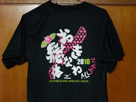 美ら島 沖縄総体 2010 Tシャツ
