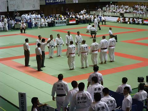 柔道競技 男子団体2回戦 作陽 (岡山) vs 延岡学園 (宮崎)