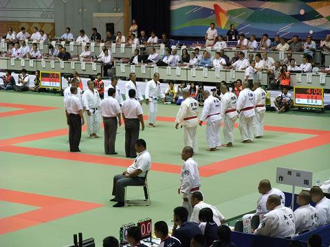 柔道競技 男子団体3回戦 田村 (福島) vs 沖縄尚学 (沖縄)