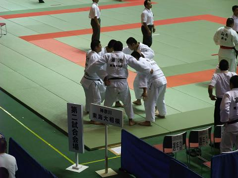 柔道競技 男子団体3回戦 東海大相模 (神奈川)