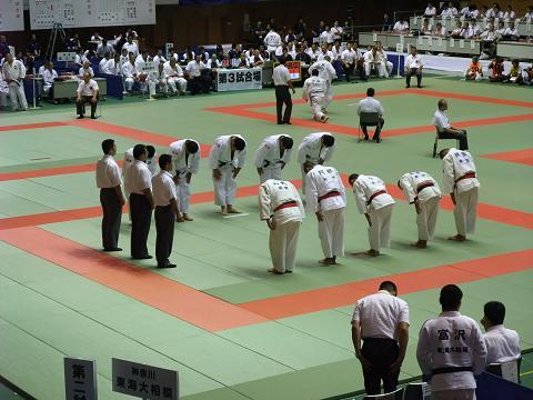 柔道競技 男子団体3回戦 東海大相模 (神奈川) vs 新田 (愛媛)
