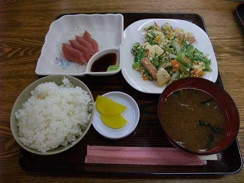 ゴーヤーチャンプルー定食 (あやぐ食堂)