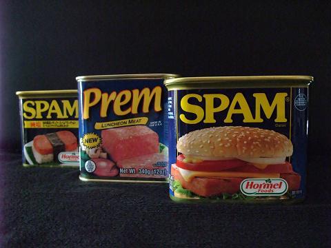 Prem LUNCHEON MEAT SPAM と比較1