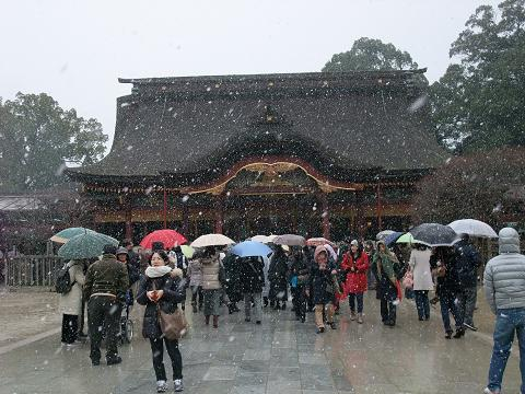 太宰府天満宮 雪景色