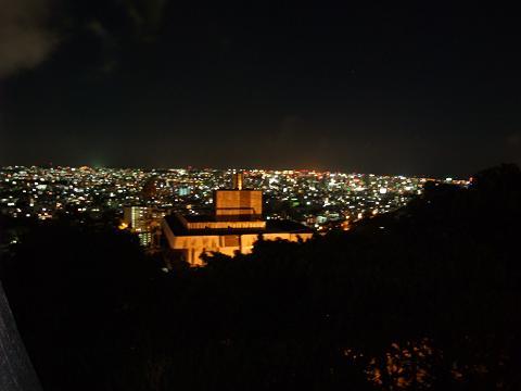 首里城からの夜景