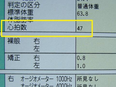健康診断 2011 心拍数