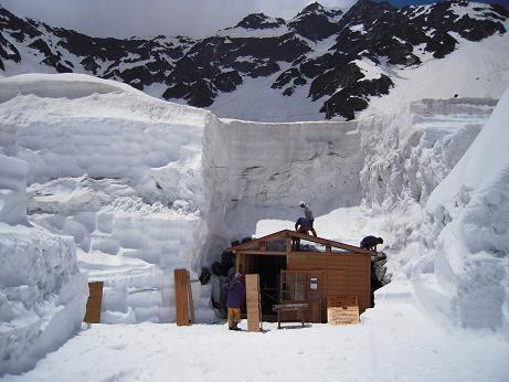 テント小屋設置2