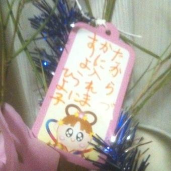 ヒヨコ七夕のお願い「たからづかに入れますように」