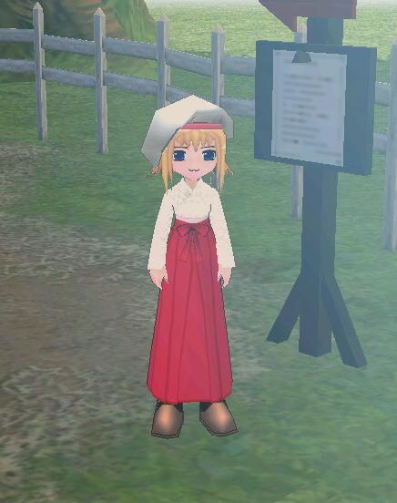 巫女服ベレー帽
