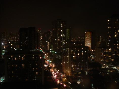 部屋から夜景